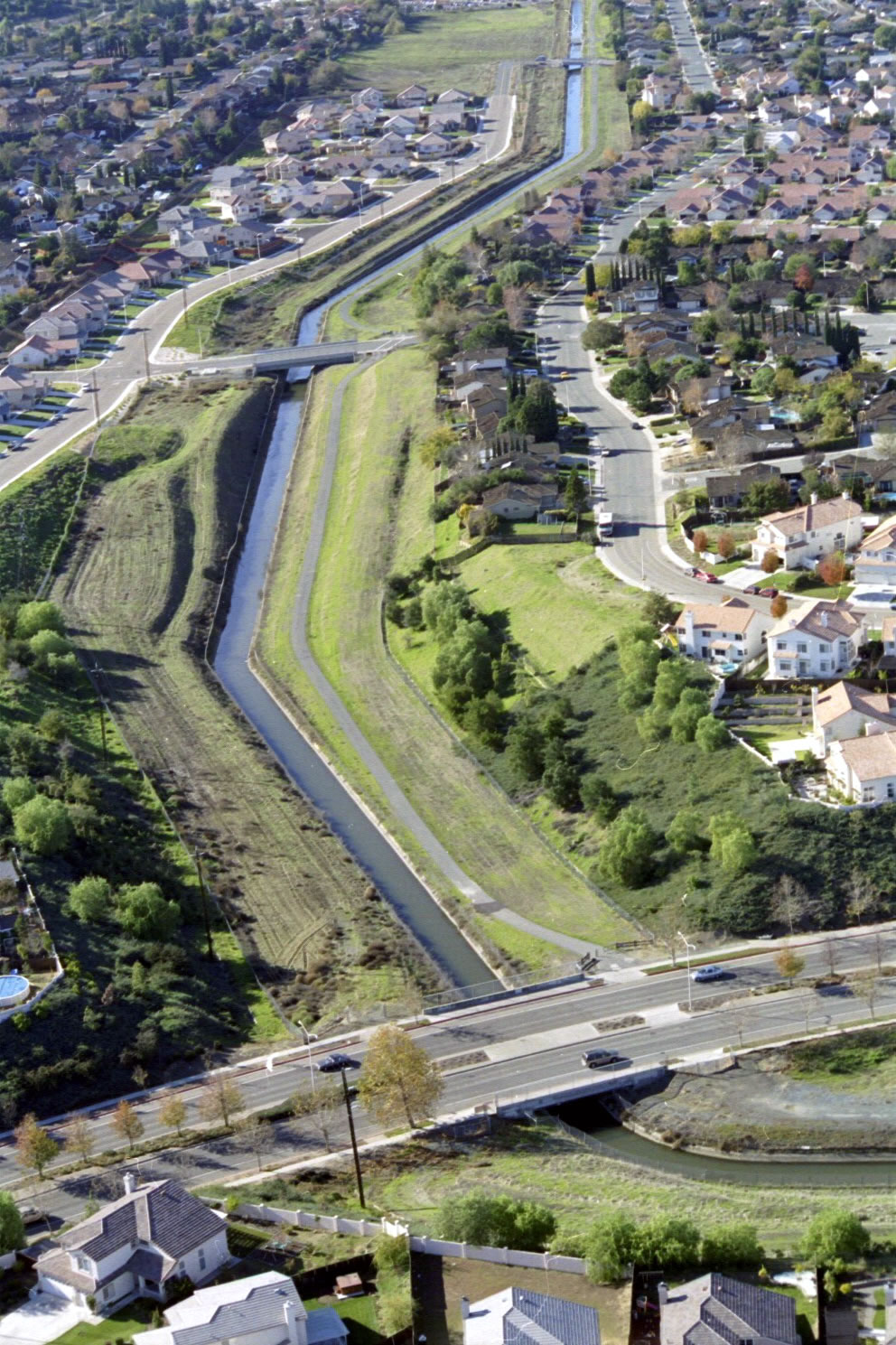 Aerial Photo of Contra Costa Canal