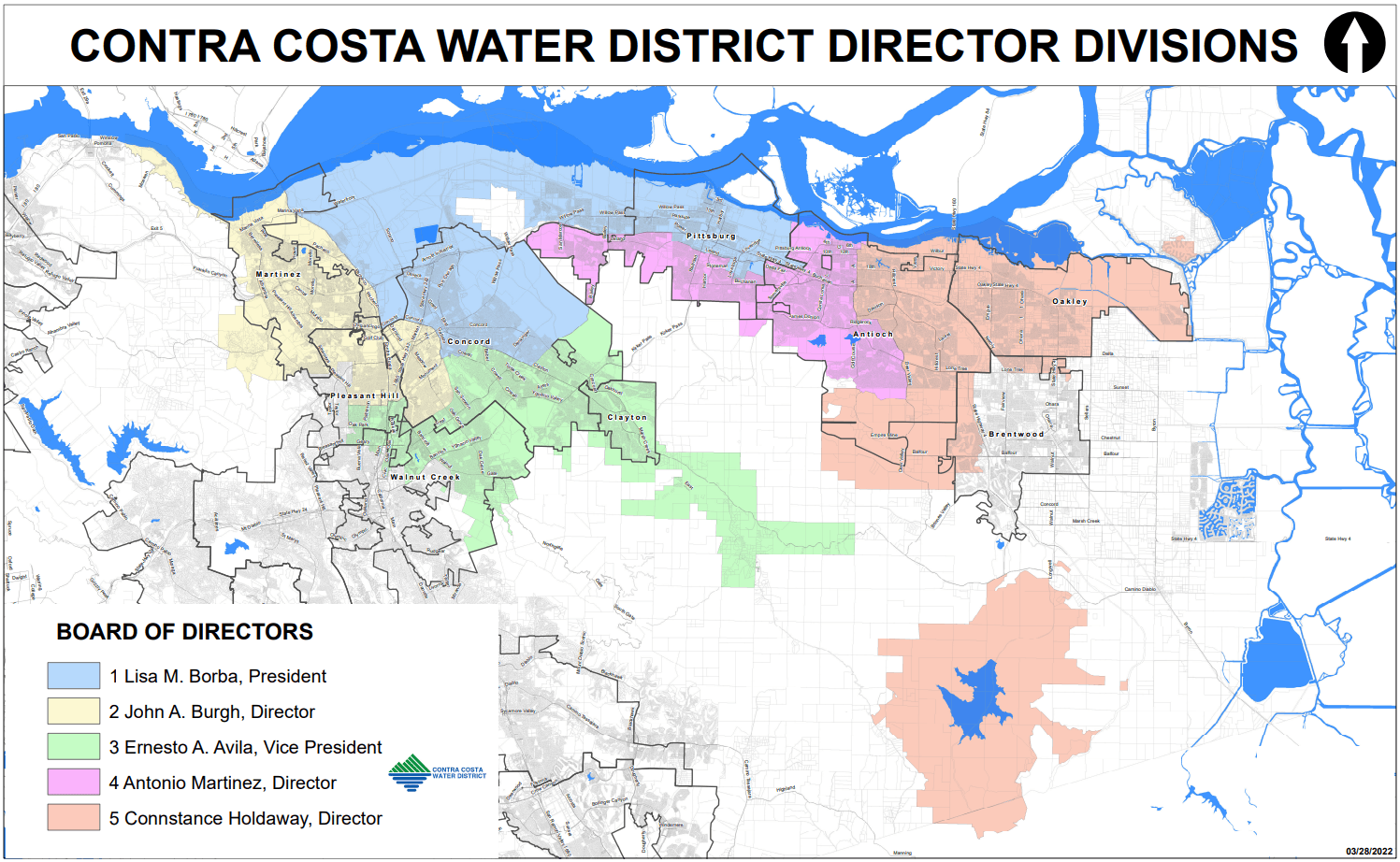 CCWD Map with Directors District Boundaries