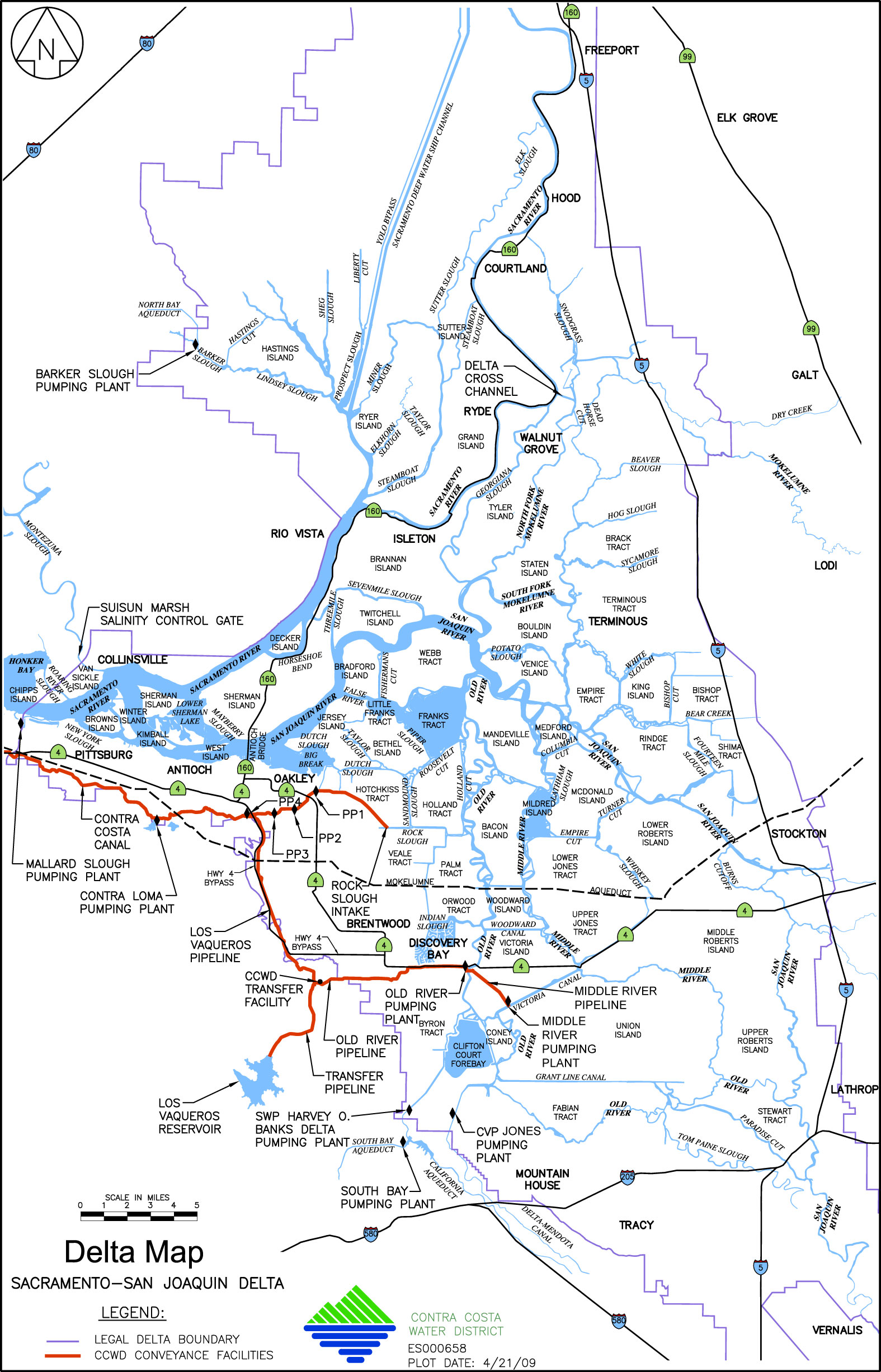 Map of the Delta