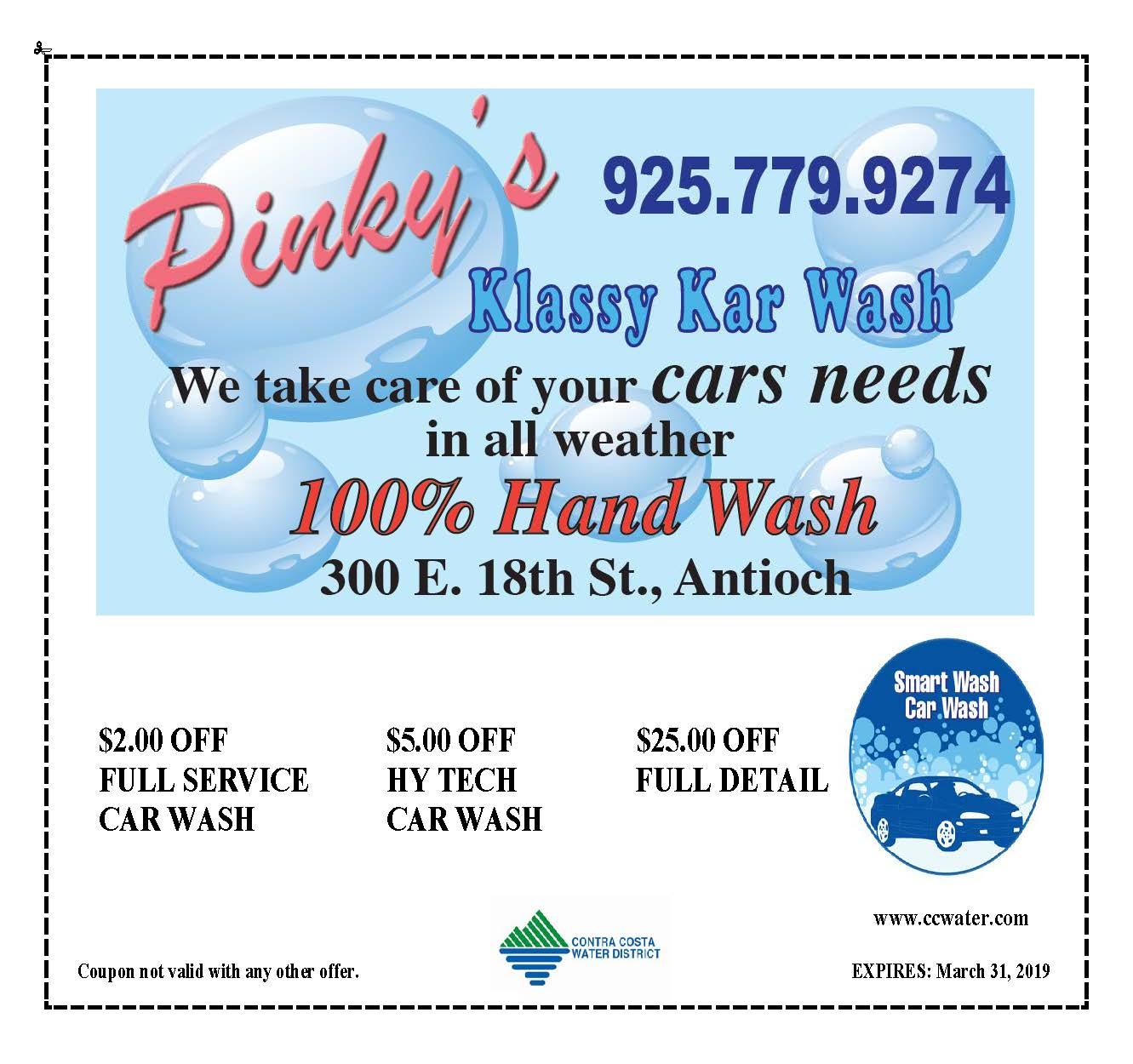 buy popular 36997 5d4dd ... Car Wash Coupons  Pinky s Klassy Kar Wash ...