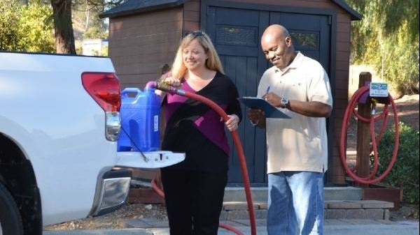 recycled water fill station