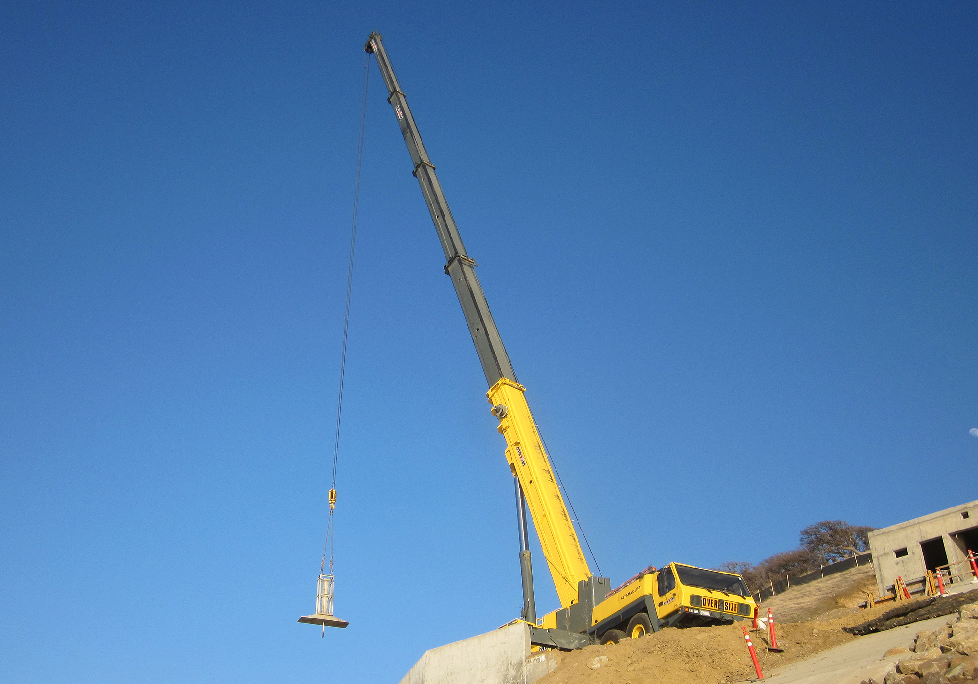 Shot of a massive 300 ton crane