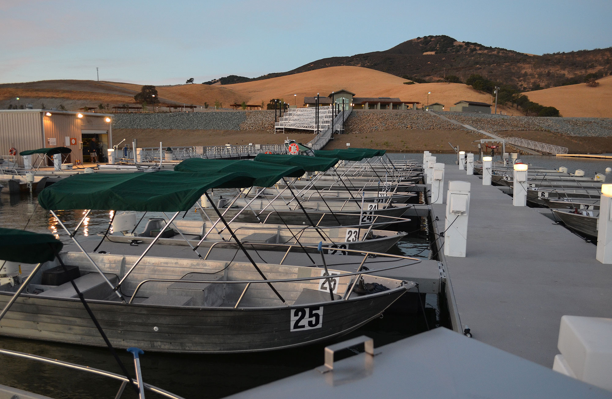 The Marina was ready for its reopening