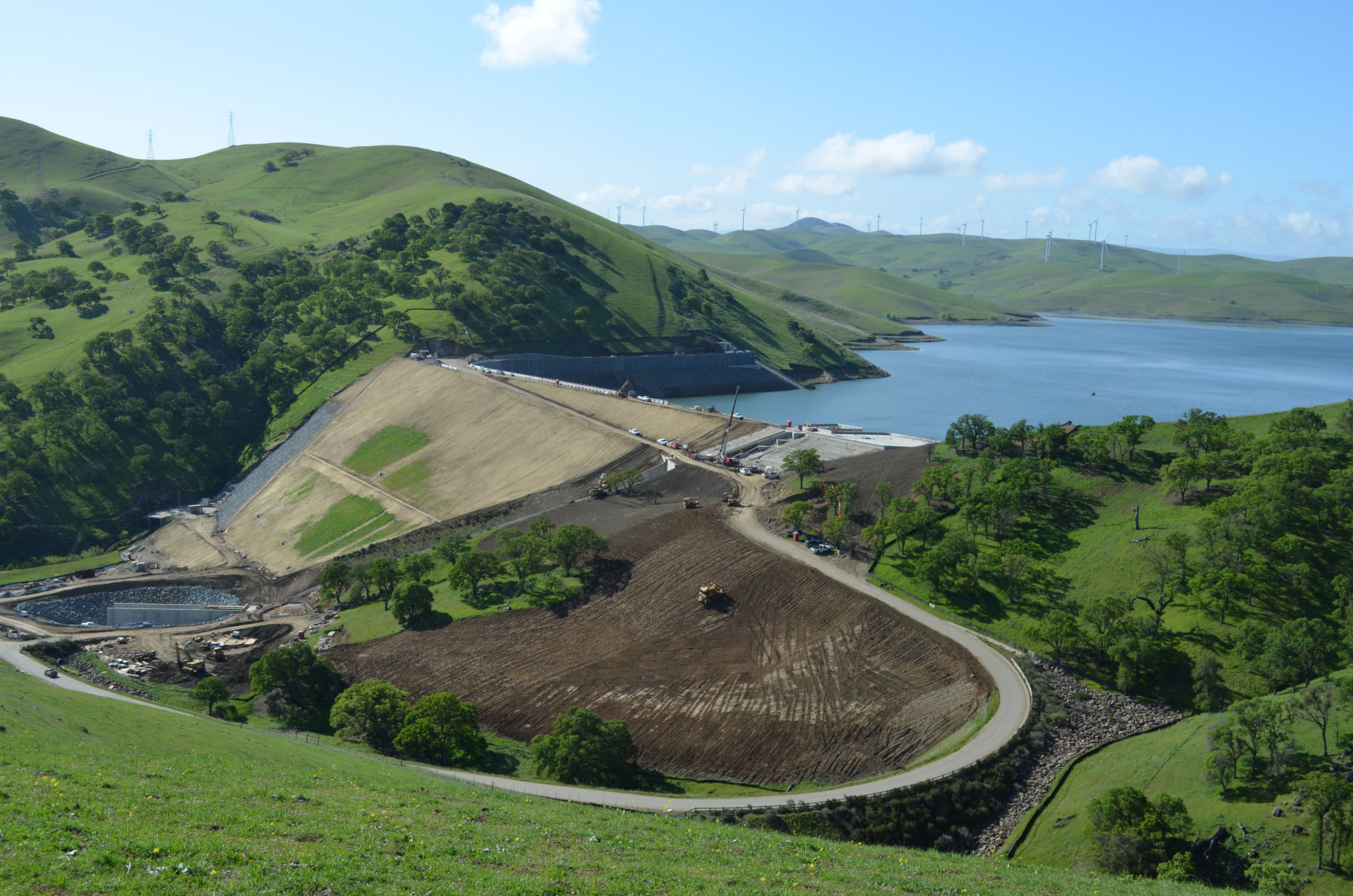 The dam is pretty much in its final shape
