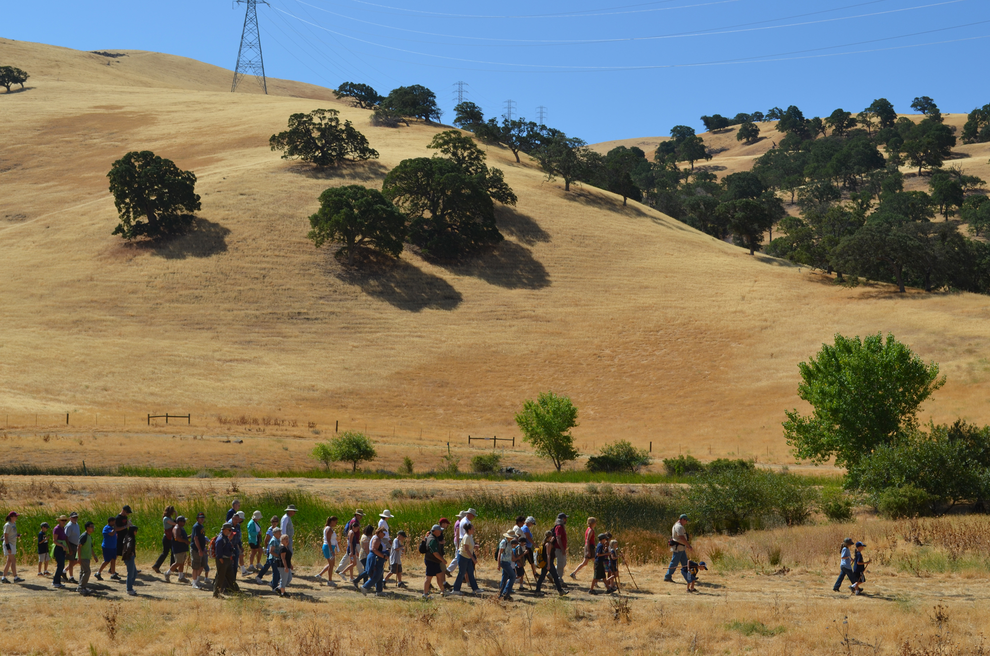 The first guided hike from the reopened John Muir